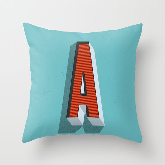 Letter A Throw Pillow