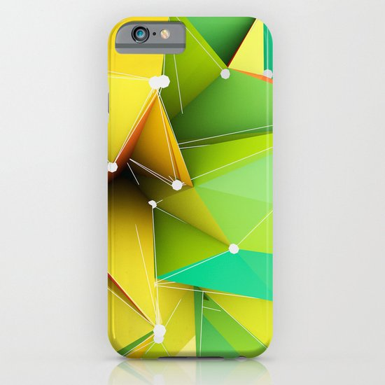Polygons green Abstract iPhone & iPod Case