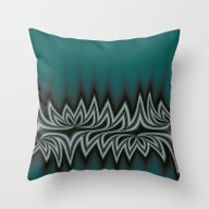 Fractal Tribal Art In Pa… Throw Pillow