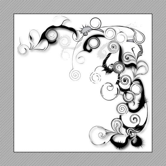 Black And White Swirls And Twirls Art Print