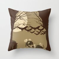 Woodland wars Throw Pillow