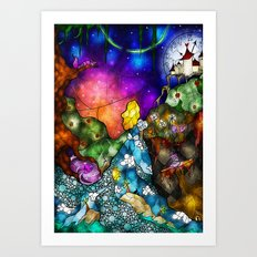 Wonderland (Once Upon A Time Series) Art Print