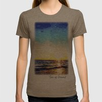 Sea Of Dreams Womens Fitted Tee Tri-Coffee SMALL