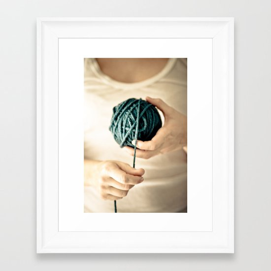 Yarn Work Framed Art Print