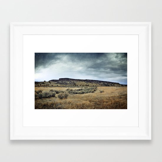 Buffalo Jump ! Framed Art Print