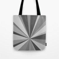 Monochrome Starburst Tote Bag