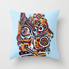 EL BARTO ~ BLUE Throw Pillow