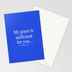 My grace is sufficient...2 Corinthians 12:9 - Bible verse Stationery Cards