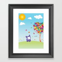 Le Kitteh Framed Art Print