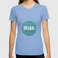 RELAX Womens Fitted Tee Tri-Blue SMALL