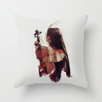 Strings Throw Pillow