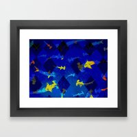 Argyle Frenzy In Lapis Framed Art Print