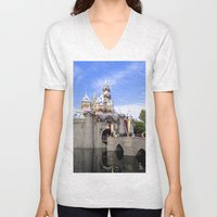Sleeping Beauty's Holiday Castle Unisex V-Neck