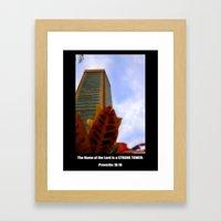Strong Tower Poster Framed Art Print