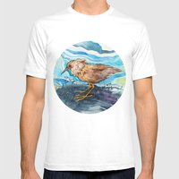 Bird In A Circle Mens Fitted Tee White SMALL