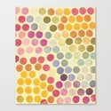 Stamp Dots Canvas Print