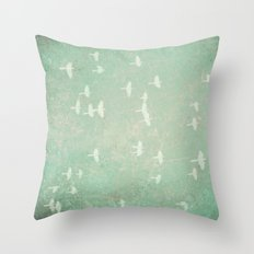 Flying at Dusk Throw Pillow