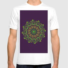 Deep Purple Mens Fitted Tee White SMALL