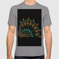 Peacock Mens Fitted Tee Athletic Grey SMALL