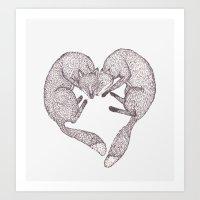 Fox Heart Art Print