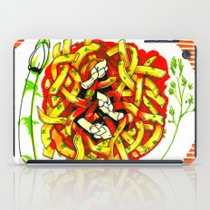 Linguine with asparagus iPad Case