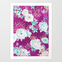 Plum Flourish Floral Art Print