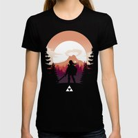 The Legend of Zelda - Orange Version Womens Fitted Tee Black SMALL