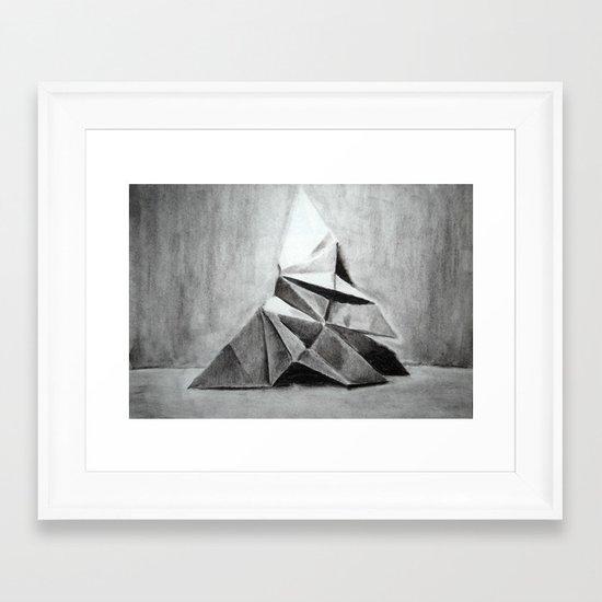 Origami Butterfly Framed Art Print
