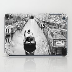 London canal during winter iPad Case