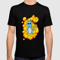 Evil Little Bunny Mens Fitted Tee Black SMALL
