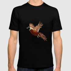 Pheasant  SMALL Mens Fitted Tee Black
