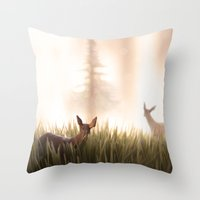 let it go, my deer Throw Pillow