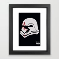 Finn Stormtrooper Profile Framed Art Print