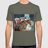 Race To The Moon Mens Fitted Tee Lieutenant SMALL