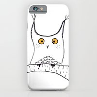 iPhone & iPod Case featuring Squarish Owl by Ria Pi