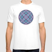 Angled Stripes - Digital… Mens Fitted Tee White SMALL