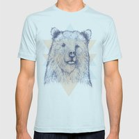 Grizzly Mens Fitted Tee Light Blue SMALL