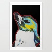 Penguin /black Art Print