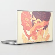 Laptop & iPad Skin featuring The Fox Ghost And The Gi… by Elise Lesueur