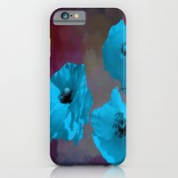 iPhone & iPod Case featuring FLOWERS - Poppies blue by Valerie Anne Kelly