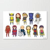 Super Cute Heroes: X-Men Canvas Print