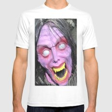 Scary Lady White Mens Fitted Tee SMALL