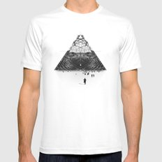 Darkside  White SMALL Mens Fitted Tee