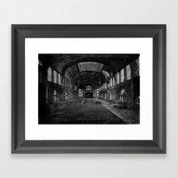 Abandoned mine Framed Art Print