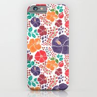 iPhone & iPod Case featuring Scattered Flowers by haidishabrina