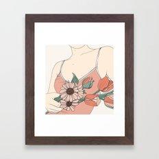 Daisies & Tulips Framed Art Print