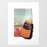 Getaway Car | Collage Art Print