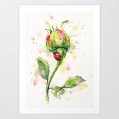 Ladybug Lane Art Print