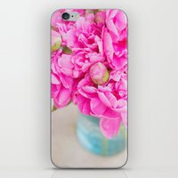 PINK PEONIES iPhone & iPod Skin