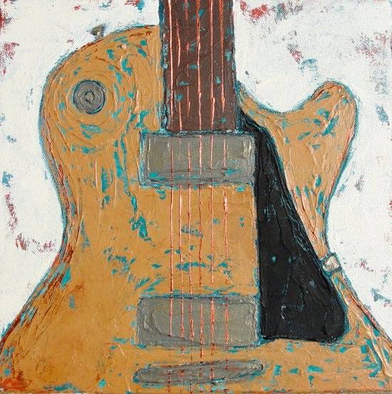 Les Paul Guitar Art Print